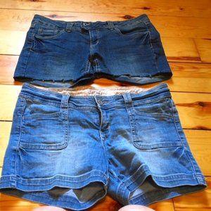 Denim short shorts  - NWOT 2 pairs/$30